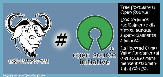 Software Libre y Software de Fuentes Abiertas, sus diferencias: Free Software vs Open Source
