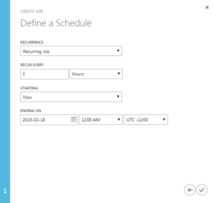 Azure Webjobs Schedule